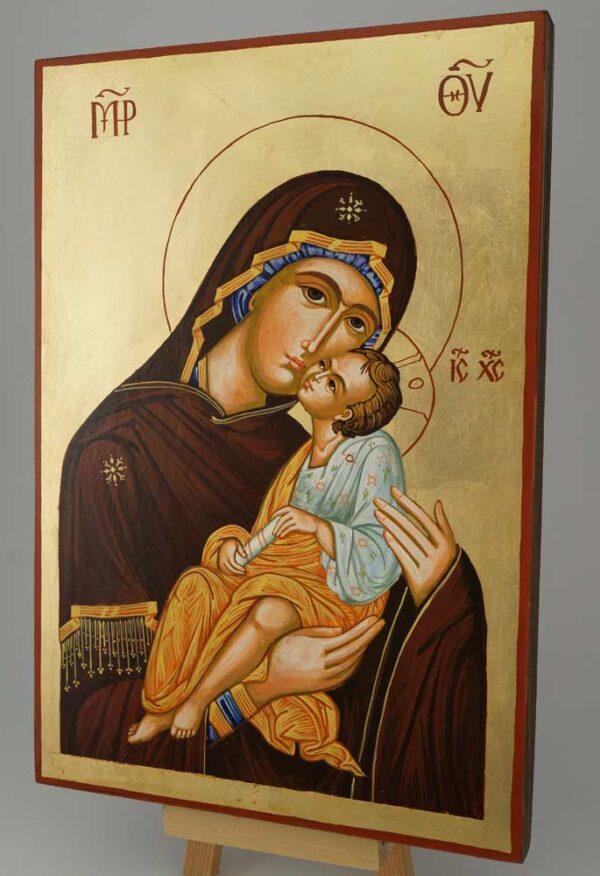 Virgin and Jesus Icon Large Hand Painted Byzantine Orthodox