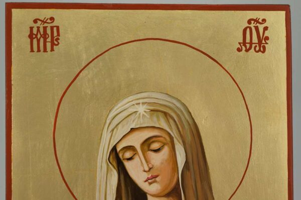 Virgin of Extreme Humility Icon Hand Painted Byzantine Orthodox