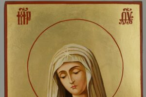 Virgin of Extreme Humility Icon Hand Painted Orthodox