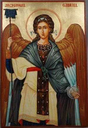 St Archangel Gabriel Hand-Painted Orthodox Icon