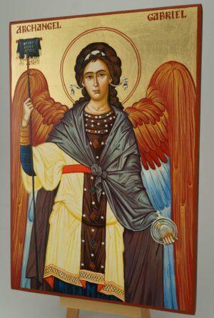 St Archangel Gabriel Large Icon Hand Painted Byzantine Orthodox
