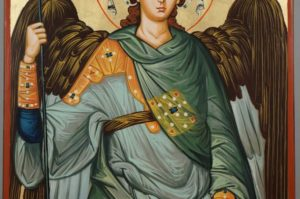 St Archangel Michael Large Hand Painted Orthodox Icon on Wood