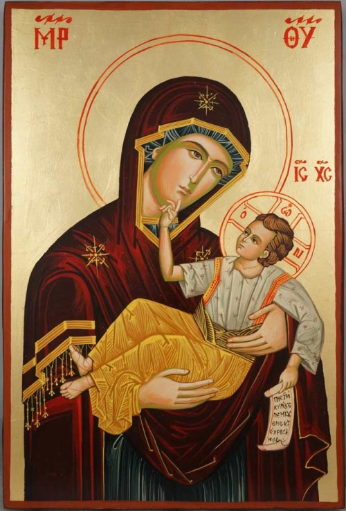 Panagia Great Grace Large Hand Painted Byzantine Orthodox Icon