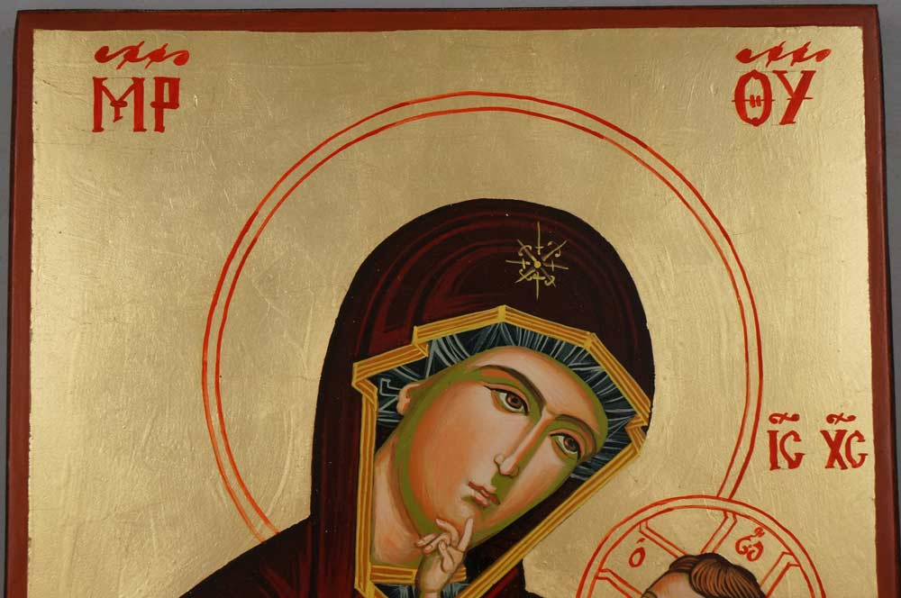 Panagia Great Grace Large Hand Painted Byzantine Orthodox Icon