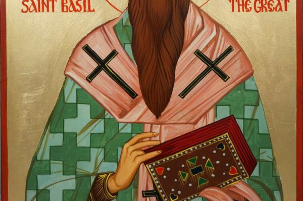St Basil the Great Hand-Painted Orthodox Icon