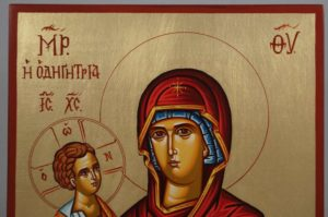 Virgin Mary Hodegetria Hand-Painted Orthodox Icon