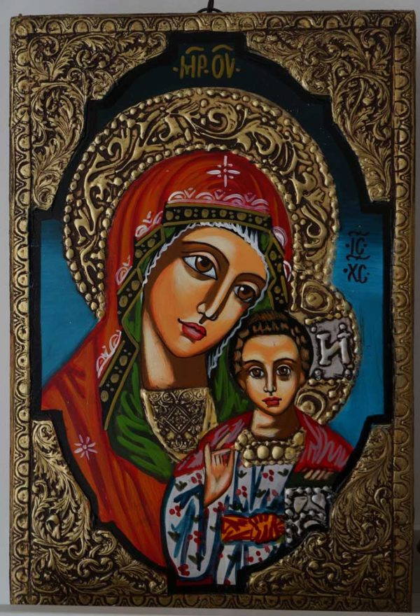 Theotokos Kazanskaya Hand-Painted Orthodox Icon