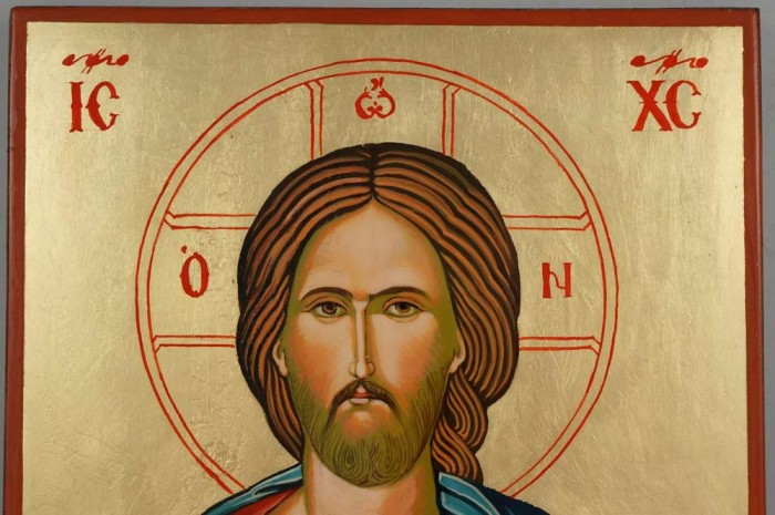 Jesus Christ Open Book Large Hand Painted Byzantine Orthodox Icon