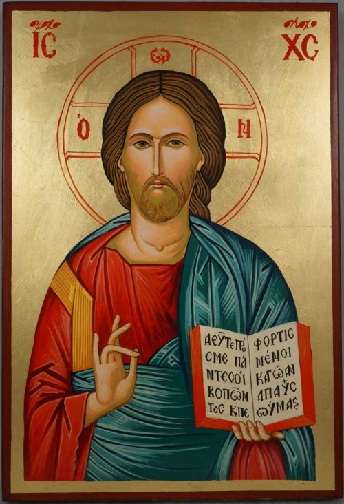 Jesus Christ Open Book Large Hand-Painted Orthodox Icon