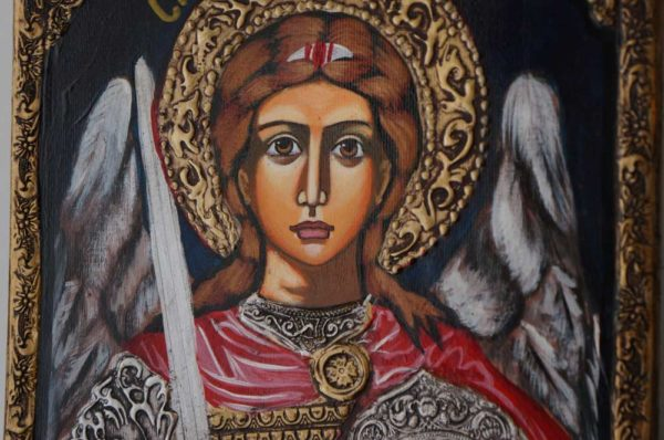 Saint St Michael the Archangel Hand-Painted Icon