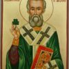 St Patrick of Ireland Large Hand Painted Orthodox Icon