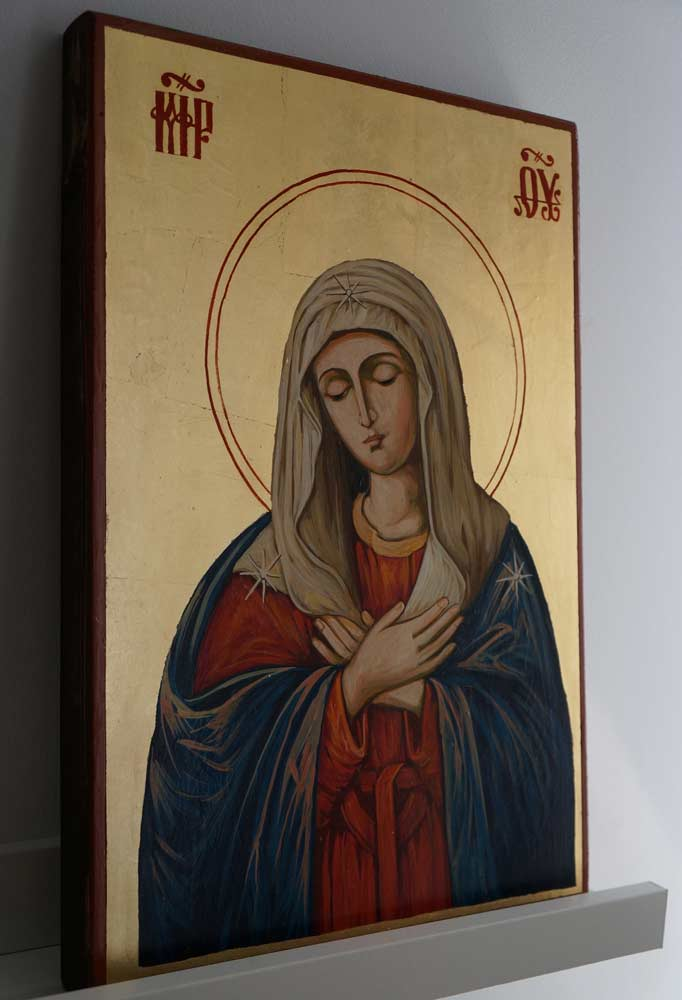 Virgin of Extreme Humility Large Hand Painted Orthodox Icon