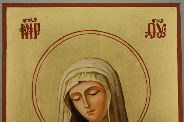 Virgin of Extreme Humility Large Hand Painted Orthodox Icon on Wood