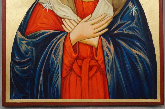Virgin of Extreme Humility Large Hand-Painted Orthodox Icon