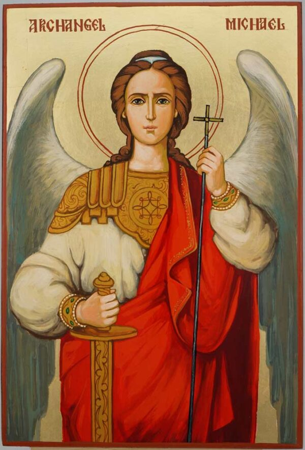 Michael The Archangel Large Icon Hand Painted Byzantine Orthodox