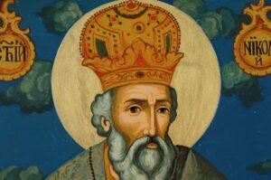 Saint Nicholas the Wonderworker Large Icon Hand Painted Orthodox