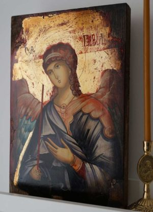 Saint St Archangel Gabriel Hand-Painted Orthodox Icon