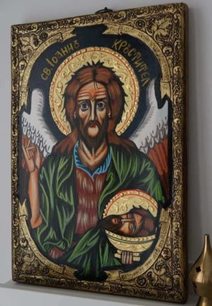 St John the Baptist Hand-Painted Byzantine Icon