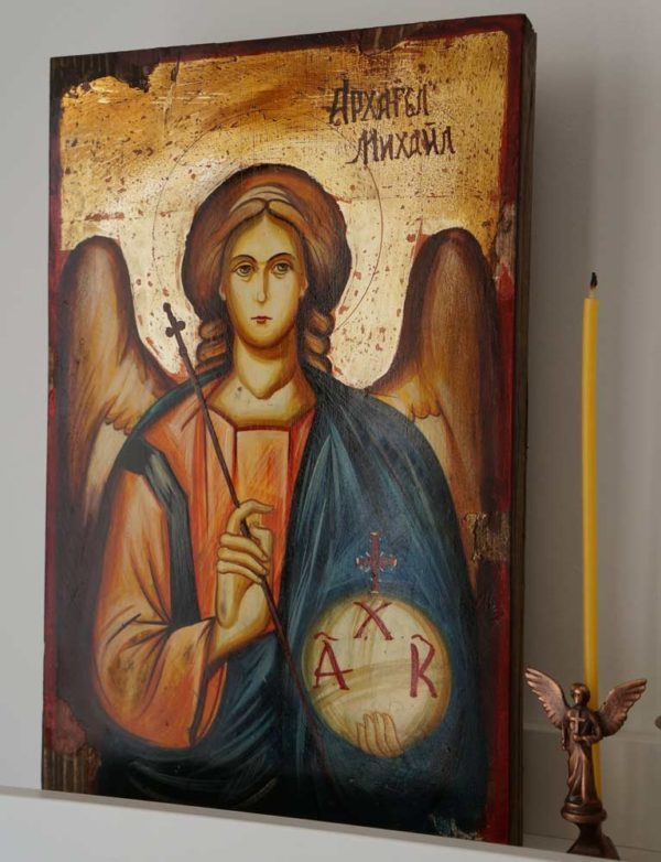 St Archangel Michael Hand-Painted Byzantine Icon
