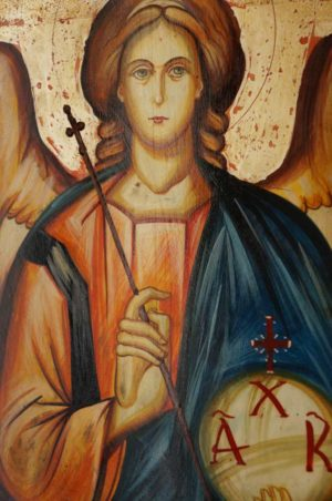 Archangel Michael Hand-Painted Byzantine Icon