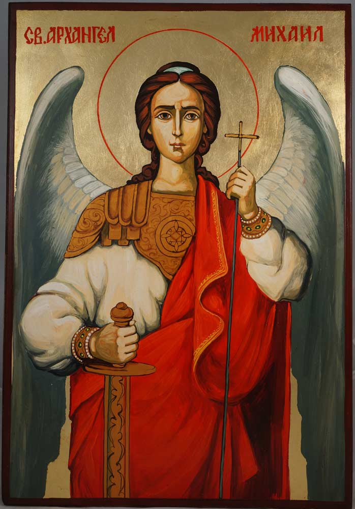 Michael The Archangel Hand-Painted Byzantine Icon