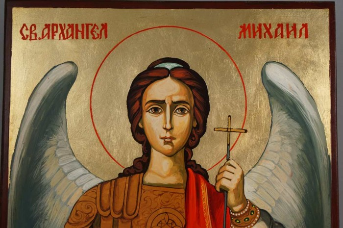 St Archangel Michael Hand-Painted Orthodox Icon on Wood