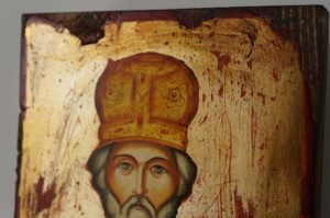 Saint St Nicholas Hand-Painted Byzantine Icon