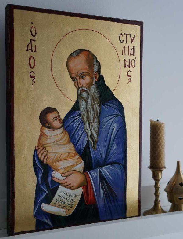 Saint Stylianos Hand-Painted Byzantine Icon