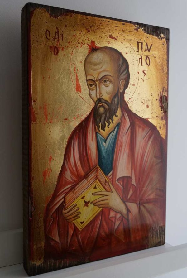 Hand-Painted Orthodox Icon of Saint Paul the Apostle