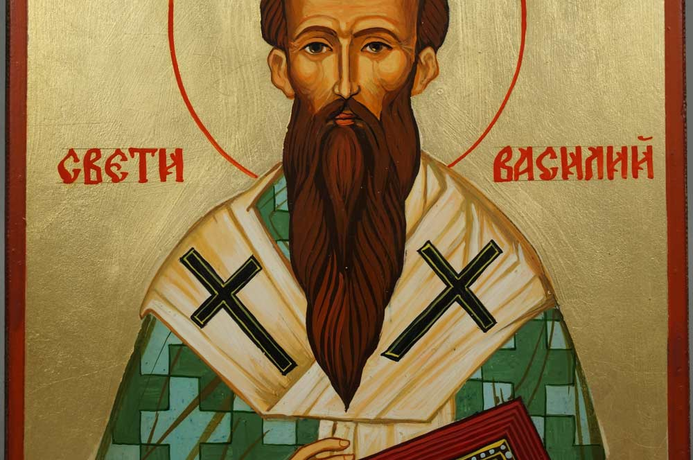 Saint Basil the Great Hand-Painted Orthodox Icon