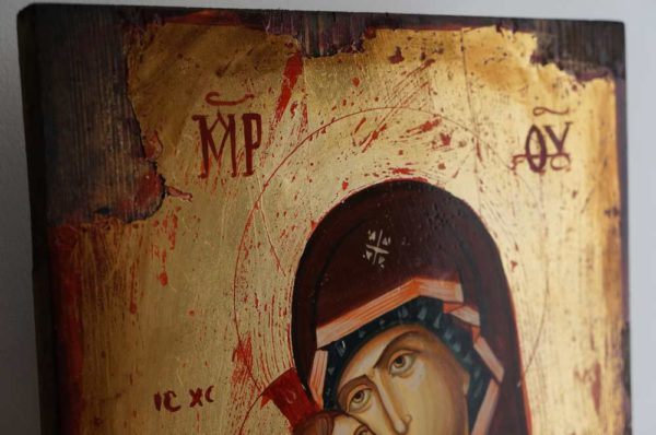 Vladimirskaya Mother of God Hand-Painted Icon