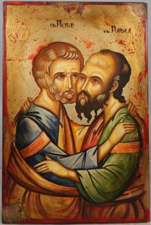 Sts Apostles Peter and Paul Hand-Painted Orthodox Icon