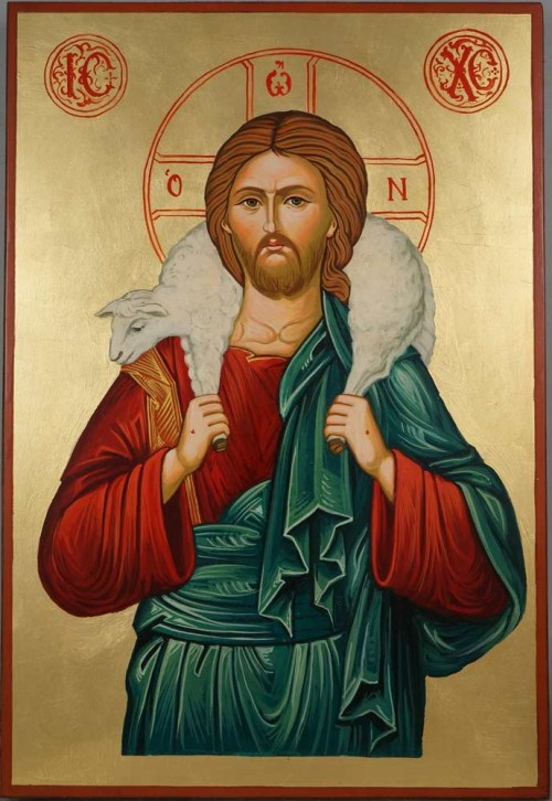 Jesus The Good Shepherd Hand Painted Orthodox Icon