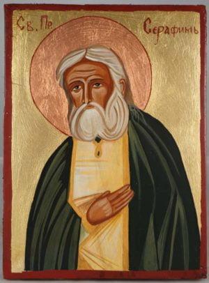 St Seraphim Sarov Hand-Painted Orthodox Icon