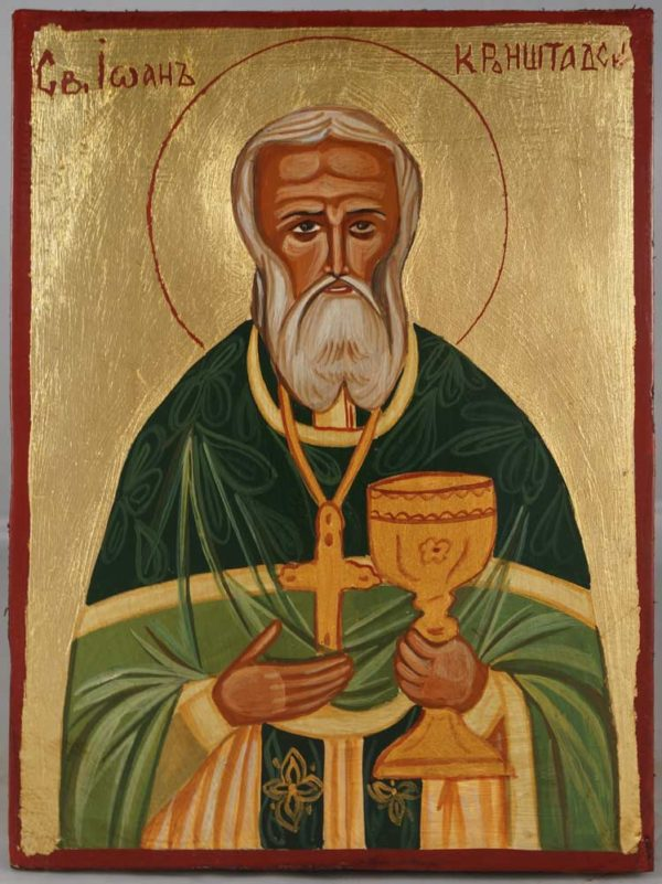 St John of Kronstadt Hand-Painted Orthodox Icon