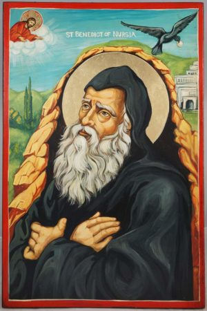 St Benedict of Nursia Hand-Painted Icon