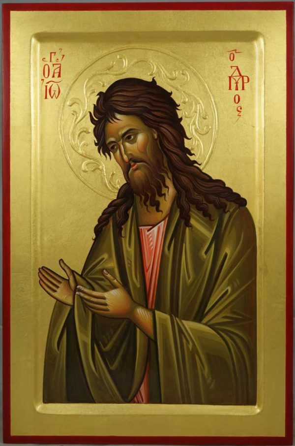 St John the Baptist Greek Hand-Painted Icon