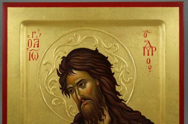 St John the Baptist Greek Hand-Painted Icon