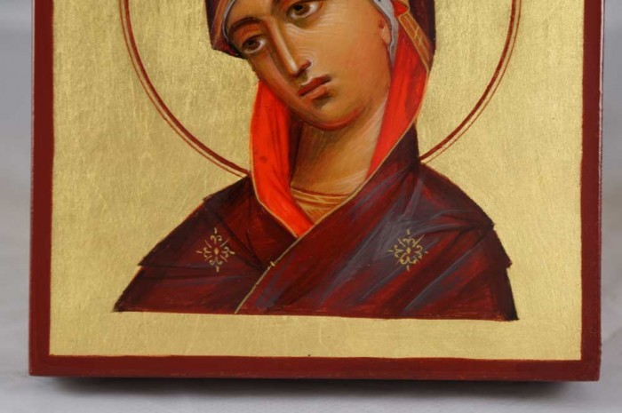 Theotokos Hand-Painted Mini Icon