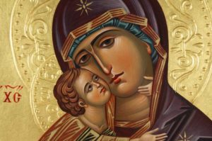Vladimirskaya Hand-Painted Icon