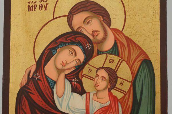 Holy Family Icon Hand Painted Byzantine Orthodox