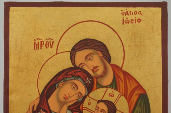 Holy Family Icon Hand Painted Byzantine Orthodox