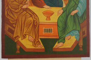 Holy Trinity – Andrei Rublev Icon Hand Painted Byzantine Orthodox