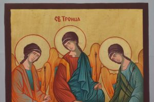 Holy Trinity Andrei Rublev Hand Painted Orthodox Icon on Wood