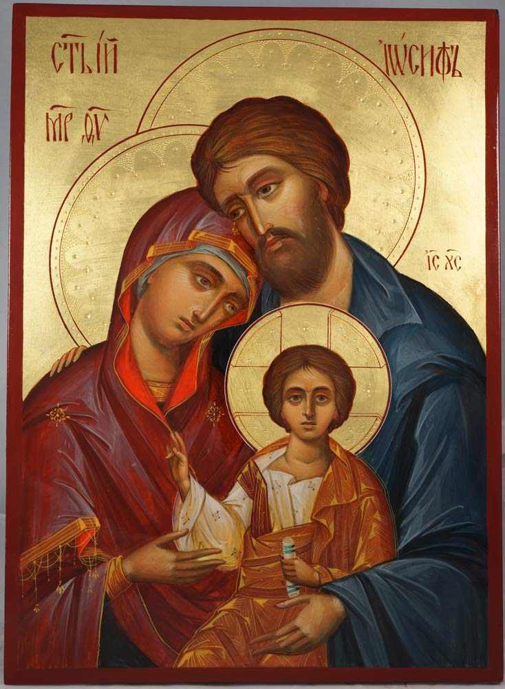 The Holy Family Hand-Painted Icon