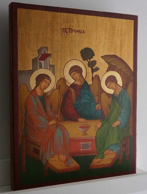 Hand-Painted Orthodox Icon of Holy Trinity - Andrei Rublev