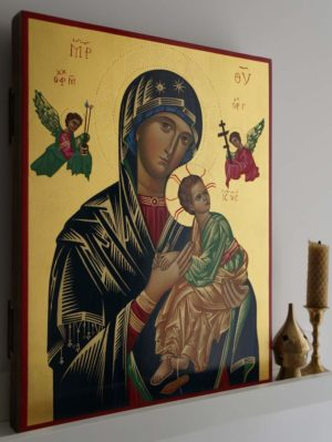 Our Lady of Perpetual Help Hand-Painted Icon