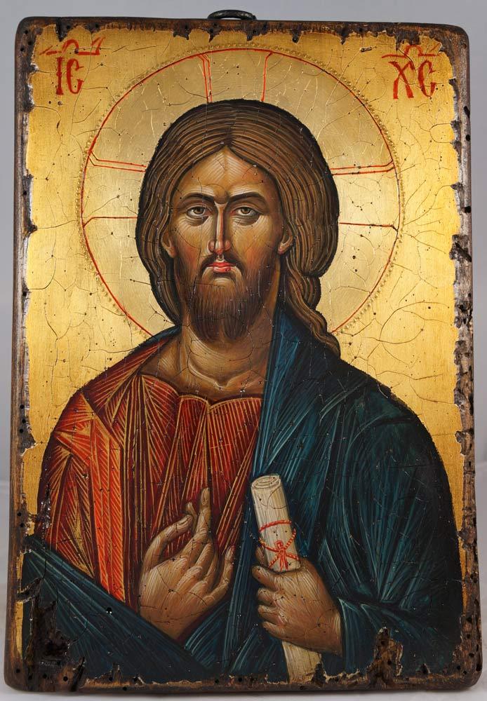 Pantocrator - Vatopedi Monastery Hand-Painted Icon
