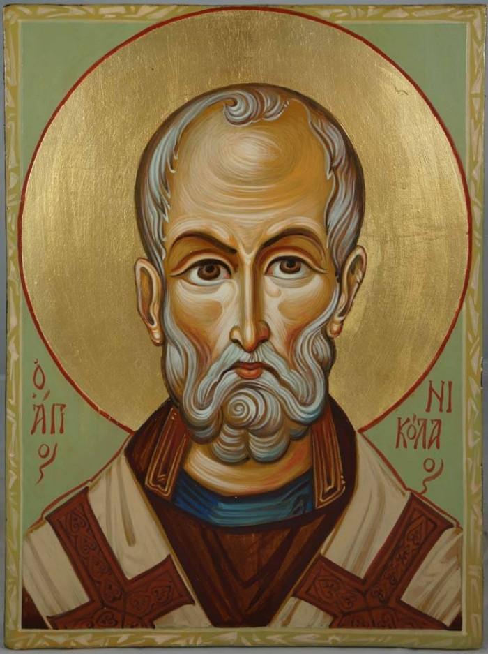 Saint Nikolaos Hand-Painted Icon