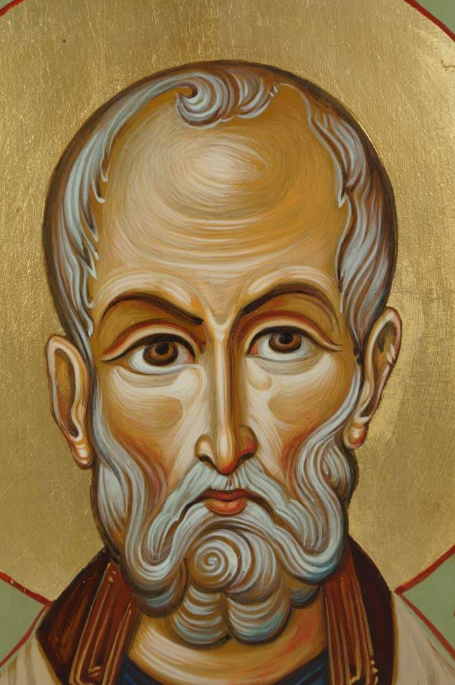 Saint Nicholas Hand-Painted Icon